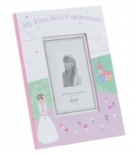 Pink Portrait First Holy Communion Photo Frame