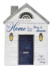 38244 Home is Built Porcelain Plaque 20 x 15 cm