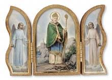 Saint Patrick Wood Triptych (8cm x 12cm)