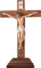 Standing Resin Crucifix (30cm)