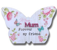 Mum Blooms Butterfly Plaque
