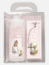 Girl First Holy Communion Candle
