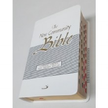 New Community Bible Pocket Deluxe Flexi White