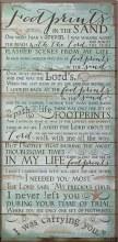 Footprints Wood Plaque