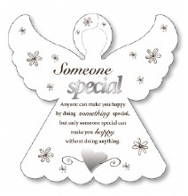 Someone special wooden angel plaque