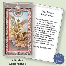 St Michael Prayercard and Medal