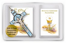 First Holy Communion Blue Enamel Crucifix