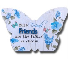 Friends Blooms Butterfly Plaque