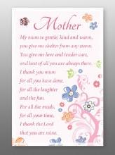 Mother Glass Plaque 18 x 13 cm