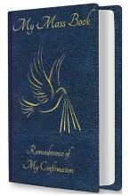 Blue Souvenir of Confirmation Mass Book