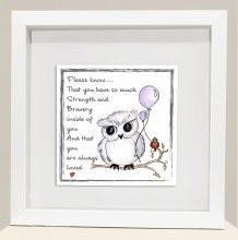 Strength and Bravery Wise Owl Frame