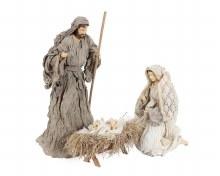 6 piece Cloth Nativity with Shelter 20cm