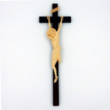 Hand Crafted Crucifix with Cream Corpus - Ideal for Schools/Churches/Sacred Spaces