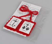 Red Scapular With Leaflet