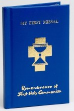 My First Holy Communion Missal Blue Padded