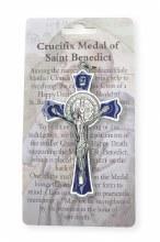 Blue Enamel Benedict Crucifix (8cm)