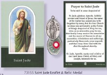 Prayercard to St Jude with relic medal