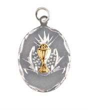 Oval Shaped First Holy Communion Medal