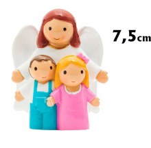 Guardian Angel with Children Statue (7.5cm