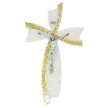 Gold Glass Murano Crucifix (34cm)