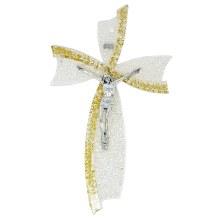 Gold Glass Murano Crucifix (34cm)