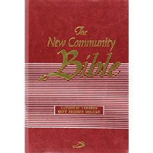 New Community Bible, Pocket, Deluxe Zipped Red