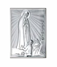 Our Lady Fatima Silver Icon (18 x 13 cm)