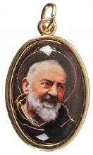 St Pio Medal Gold Finish
