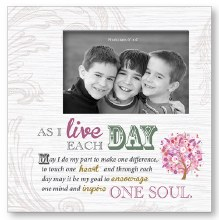 As I Live Each Day Art Deco Wood Photo Frame