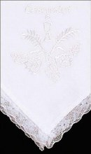 White First Holy Communion Handkerchief