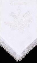 White First Holy Communion Handkerchief