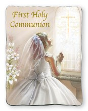 First Holy Communion Girl Metal Plaque
