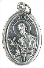 St Gerard Medal Oxidised