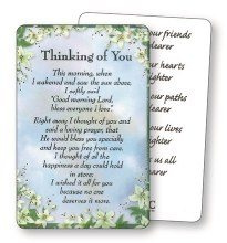 Thinking of You Prayer leaflet