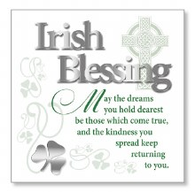 Irish Blessing Block Art Plaque