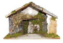 Traditional Wooden Nativity Shelter