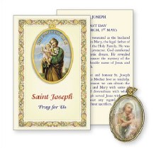 St Joseph Prayer Card with Medal