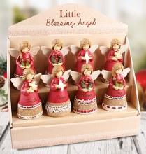 Red Christmas Little Blessing  Angel 10cm