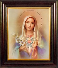 Sacred Heart Of Mary Framed Picture (45 x 35cm)