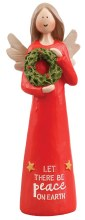 39509  Let There Be Peace Christmas Angel 13cm