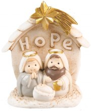 Hope Holy Family Christmas Decoration (8cm)