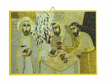 Road To Emmaus Mosaic Icon