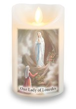 Lourdes LED Candle with Wax Coating (8 x 12cm)