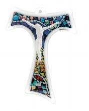 Mosaic Mattiolo Tau St Francis Crucifix (21cm)