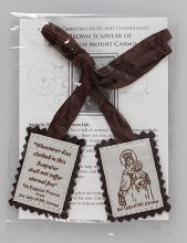 59120 Brown Wool Scapular with Leaflet