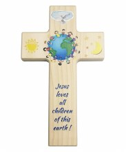 Children Of The World Wooden Cross (20cm)