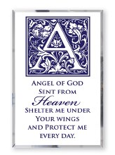 Angel of God Glass Plaque