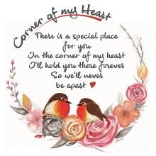 CHC003 Never Apart Corner of My Heart Robin Card