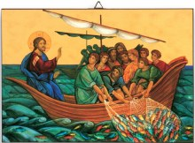 Sea of Galilee icon 15x10cm