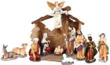 11 piece  Nativity Set with Shelter